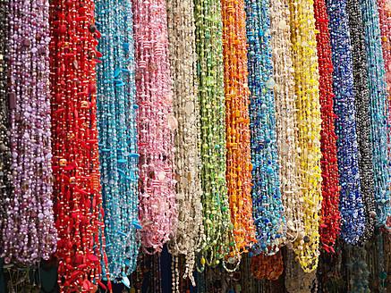 Morocco, Essaouira, Berber jewellery in shop at souk - BSCF000096