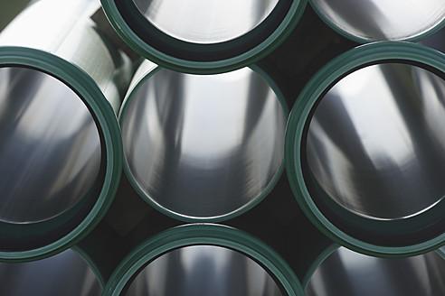 Germany, Bavaria, Schaeftlarn, Full frame of plastic pipes - TCF001818