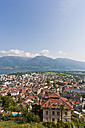 Switzerland, Ticino, View of Locarno with Lake Maggiore - WDF001035