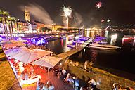 Switzerland, Ticino, People celebrating Swiss national day - WDF001054