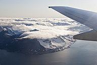 Europe, Norway, Spitsbergen, View of snowy mountains from flight - FOF003698