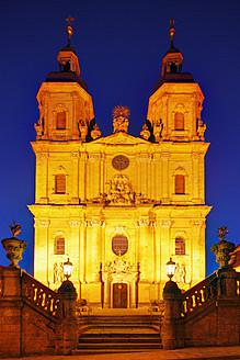 Germany, Bavaria, Franconia, Franconian Switzerland, View of Trinity church in Goessweinstein - SIEF001992