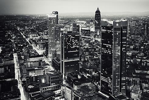 Germany, Hesse, Frankfurt, View of cityscape at night - WA000008