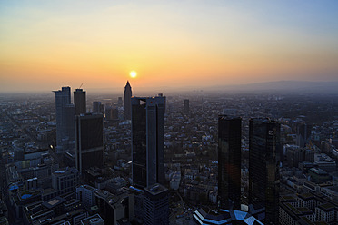 Germany, Frankfurt, View of town at sunset - FO003777