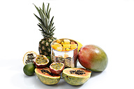Variety of fruits on white background - CSF015488