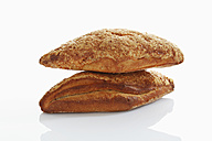Gouda cheese bread on white background, close up - CSF015506