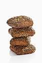 Granary roll with seed on white background, close up - CSF015512