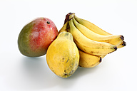 Variety of fruits on white background - CSF015610