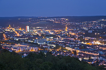Germany, Baden Wurttemberg, View of city at dusk - WDF001129