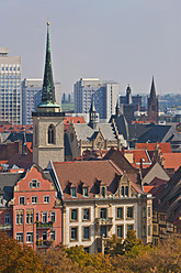 Germany, Thuringia, Erfurt, View of city - WDF001122