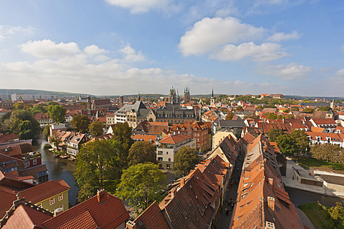 Germany, Thuringia, Erfurt, View of city - WDF001119