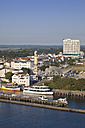 Germany, Rostock, View of old town with lighthouse - MSF002596