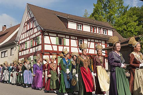Germany, Ueberlingen, People celebrating religious festival - SH000647