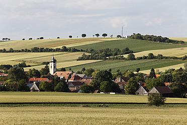 Austria, Lower Austria, Weinviertel, Grossmugl, , View of town - SIEF002210