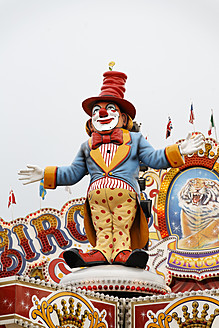 Germany, Oberhausen, Clown display at fair - ANB000054