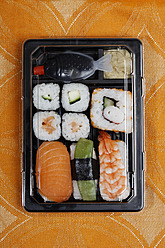 Germany, Variety of sushi in box - ANBF000026