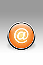 Orange button with @ sign against grey background - CSF015754
