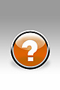 Orange button showing question mark sign, close up - CSF015800