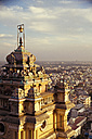Asia, India, Tamil Nadu, View of temple with Trichy City - MBEF000240