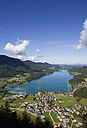 Austria, Fuschl, View of town with Fuschlsee Lake - WWF001988