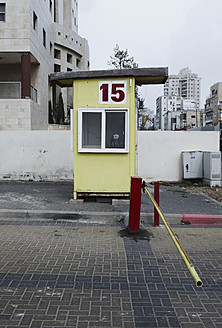 Israel, View of car parking booth and pole - TH001176