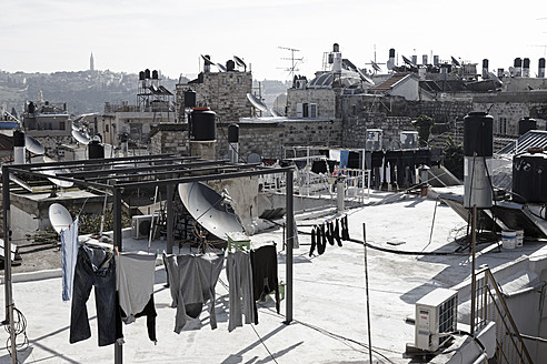Israel, Jerusalem, View of laundry - TH001188