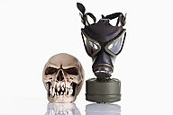 Gas mask and vampire skull on white background - CSF015879