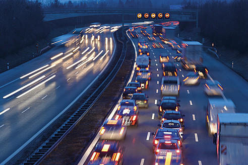 Europe, Germany, Bavaria, Munich, Rush hour at evening on highway - TCF002260