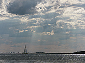 Germany, Sail boat in Baltic Sea at Rugen Island - LFF000345