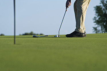 Cyprus, Person playing golf on golf course - GNF001211
