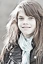 Germany, Bavaria, Girl smiling, portrait - MAEF004532