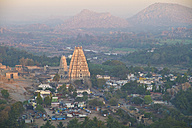 India, Karnataka, Hampi, View of Virupaksha Temple - MBE000291