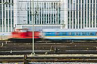 Germany, Bavaria, Munich, Train near main station - LFF000433