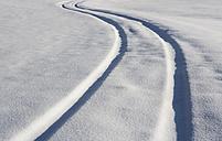 Austria, View of snowy way - WWF002273