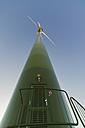 Germany, Saxony, View of wind turbine entrance - MJF000015