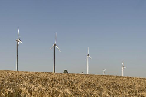 Germany, Saxony, View of wind turbine - MJF000007