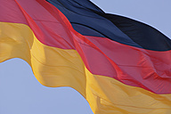 Germany, Berlin, View of German Flag, close up - TCF002457