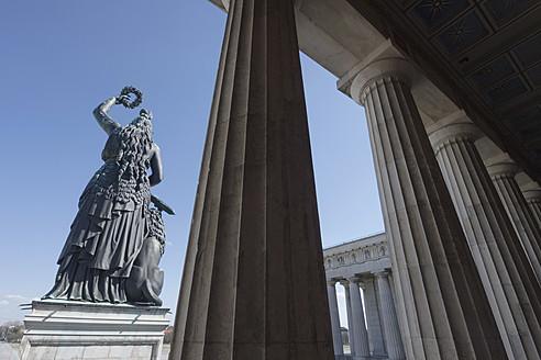 Germany, Bavaria, Munich, View of Bavaria Statue - LFF000478