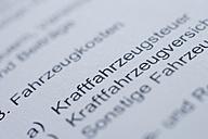Germany, Tax form, close up - TCF002473