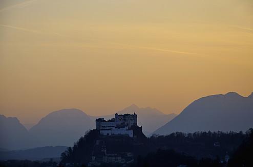 Austria, Salzburg, View of Hohensalzburg castle - AXF000047