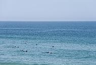 Portugal, Algarve, Sagres, Surfer surfing on Atlantic ocean - MIRF000437