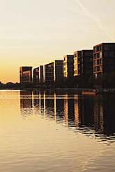 Europe, Germany, North Rhine Westphalia, View of Duisburg Inner Harbour - GWF001759