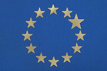 European flag against blue background - MUF001201