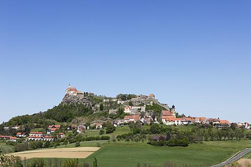 Austria, Styria, View of Riegersburg Castle with village - SIEF002613