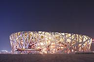 China, Beijing, National Stadium at night - FL000055