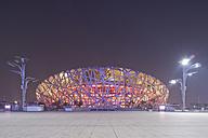 China, Beijing, National Stadium at night - FL000057