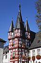Germany, Rhineland Palatinate, Ruedesheim, View of timber framed Broemserhof - GWF001798