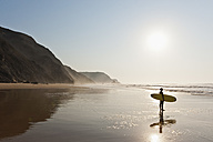 Portugal, Surfer on beach - MIRF000474