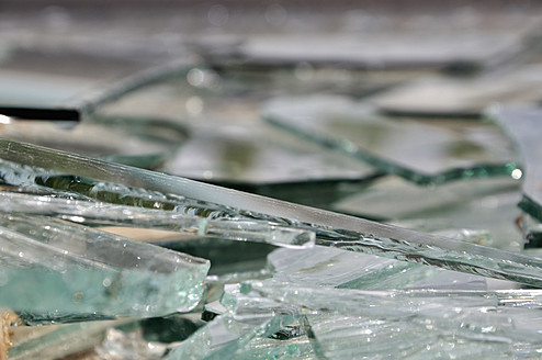 Germany, Bavaria, Pieces of broken glass - AXF000091
