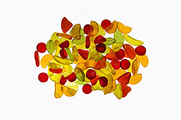 Various wine gums on white background - AXF000099